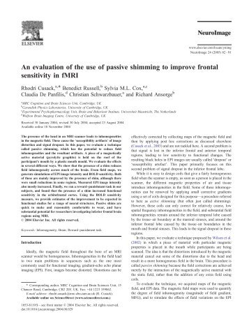 An evaluation of the use of passive shimming to ... - Purdue University