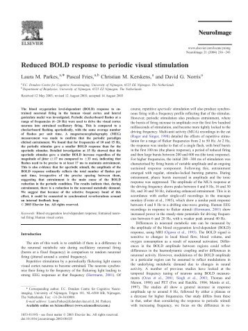 Reduced BOLD response to periodic visual ... - Purdue University