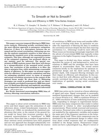 Bias and Efficiency in fMRI Time-Series Analysis - Purdue University