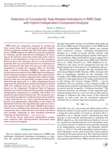 Detection of Consistently Task-Related ... - Purdue University