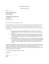Call to Action Sample Letter - Elmira Heights Central School District