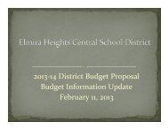 02/11/13 Budget Presentation - Elmira Heights Central School District