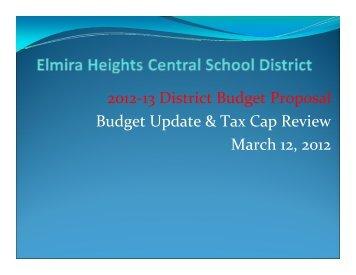 Budget Presentation 3-12-2012 - Elmira Heights Central School ...