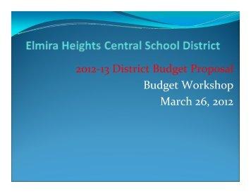 Budget Presentation 3-26-2012 - Elmira Heights Central School ...