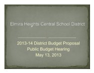 Budget Hearing 05/13/13 - Elmira Heights Central School District
