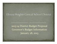 01/28/13 Budget Presentation - Elmira Heights Central School District