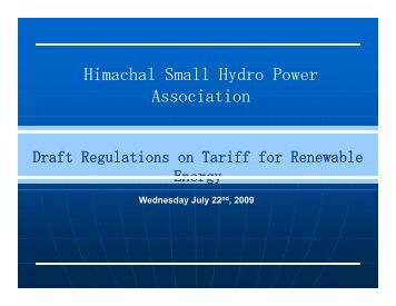Himachal Small Hydro Power Association - Central Electricity ...