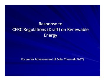 Forum for Advancement of Solar Thermal - Central Electricity ...