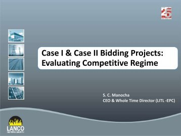 Presentation on Case I & Case II Bidding Projects ... - Infraline