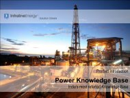 Product Introduction - Power Knowledge Base - India's ... - Infraline