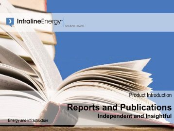 Product Introduction - Reports and Publications - Infraline