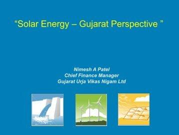 """""""Solar Energy – Gujarat Perspective """" - Infraline"""