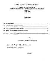 ntpc- kawas gas power project financial appraisal of r&m ... - Infraline