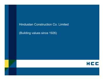 Hindustan Construction Co. Limited - Infraline