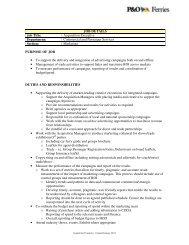JOB DETAILS Job Title: Acquisition Executive ... - P&O Ferries