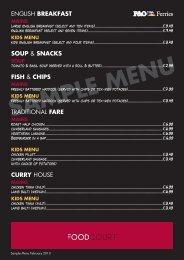 sample menu 2013