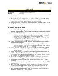 JOB DETAILS Job Title: Advertising & Partnerships ... - P&O Ferries