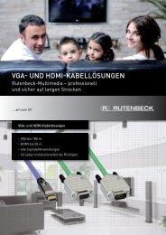 VGA UND HDMI KABELLÖSUNGEN - Rutenbeck