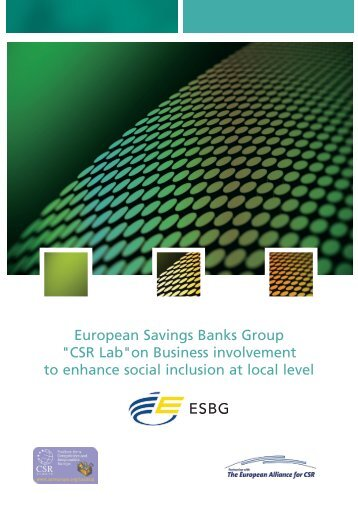 on Business involvement to enhance social inclusion ... - CSR Europe