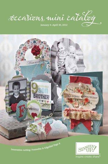 2012 Occasions Mini Catalog