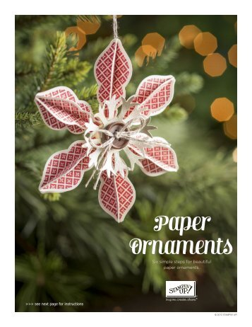 Paper Ornaments - Stampin' Up!