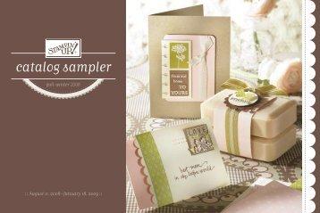 catalog sampler - Stampin' Up!
