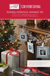 Country Living Holiday Collection Stampin' Kit - Stampin' Up!