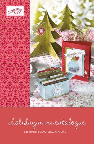 Holiday Mini Catalogue - Stampin' Up!