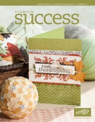 sharing creativity & caring for your business october ... - Stampin' Up!