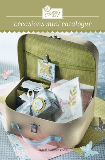 Download the Occasions Mini Catalogue - Stampin' Up!
