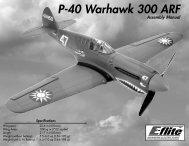 P-40 Warhawk 300 ARF - Stanbridges Hobby Shop
