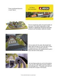 First we rework the walls and tunnel portals on the layout. The ...