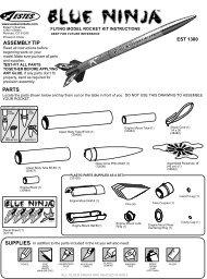 Estes 'Blue Ninja' Instructions, EST 1300 - Astra