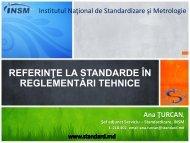 referinţe la standarde în reglementări tehnice - Institutul Naţional de ...