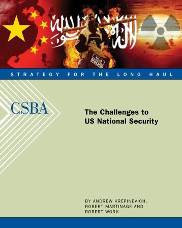 The Challenges to US National Security - Center for Strategic and ...
