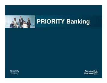 PRIORITY Banking - Standard Chartered Bank