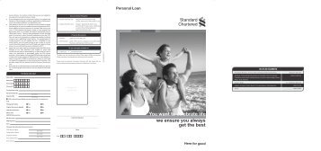 Personal Loan AW Sep 22nd 11 - Standard Chartered Bank