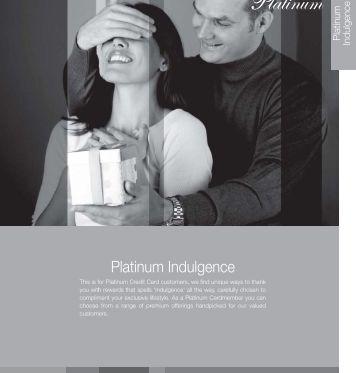 Platinum Rewards Catalogue Sept 10th 11 - Standard Chartered Bank