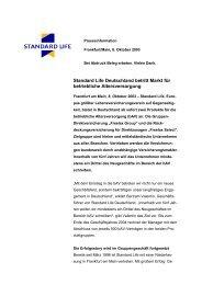 Standard Life Deutschland betritt Markt für betriebliche ...