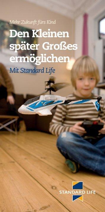 Den Kleinen später Großes ermöglichen - Standard Life