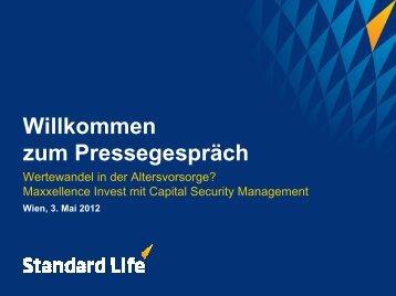 Präsentation zum Pressegespräch - Standard Life