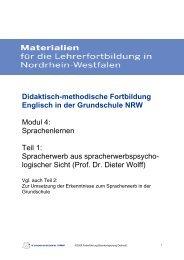 Modul 4: Sprachen lernen, Teil 1 - Standardsicherung NRW