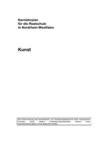 Kernlehrplan Kunst - Standardsicherung NRW
