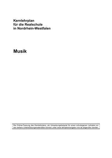 Kernlehrplan Musik - Standardsicherung NRW