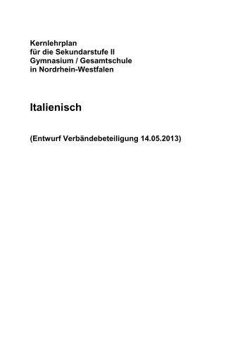 Kernlehrplan Italienisch - Standardsicherung NRW