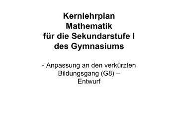 Kernlehrplan Mathematik - Standardsicherung NRW