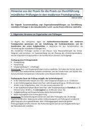 Organisationsmodelle für mündliche Prüfungen - Standardsicherung ...