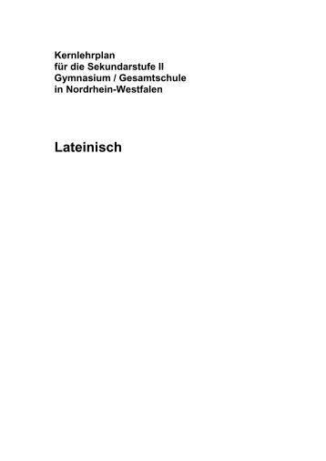 Kernlehrplan Latein (Endfassung) - Standardsicherung NRW
