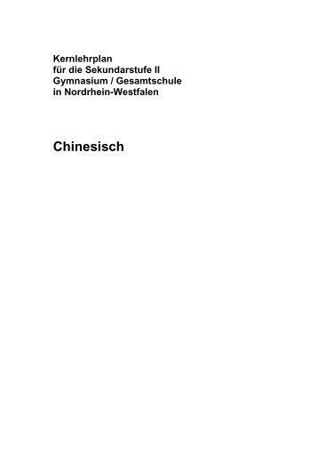 Kernlehrplan Chinesisch (Endfassung) - Standardsicherung NRW