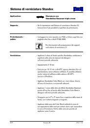 Sfumatura con Standoblue Basecoat (triplo strato) - Standox